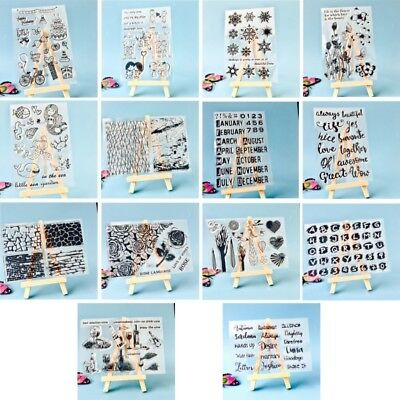 NEW DIY Silicone Clear Stamp Cling Seal Scrapbook Embossing Album Decor