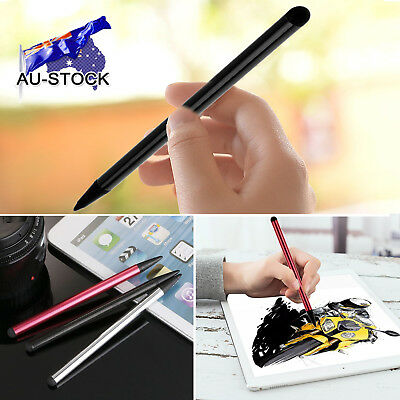 2Pcs Black Capacitive Pen Touch Screen Stylus Pencil for iPhone iPad Tablet PC