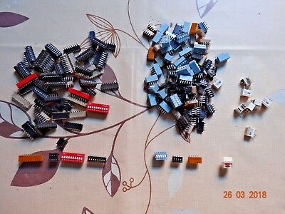 Job Lot of Various DIP switch / switches APEM RS ERG CTS