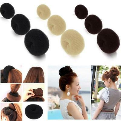 1xHair Magic Bun Donut Ring Roll Sponge Former Shaper Styler Maker Tool S/M/L 8C