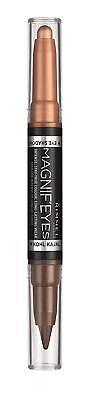 Rimmel Magnif'eyes Double-ended Shadow + Liner - 002 Kissed By A Rose Gold