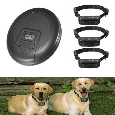 Indoor Wireless Dog Training Shock Collar Fence Pet Electric Trainer System US