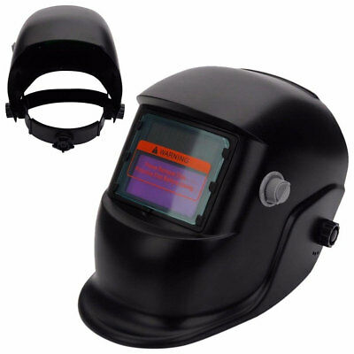 Solar Power Auto Darkening Welding Helmet Arc Tig Certified Mask Grinding Black