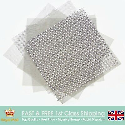 Stainless Steel Woven Wire Mesh 30CM Square Sheet (Europe's Biggest Range)