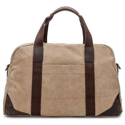 Travel Duffle Bag Canvas Women Men Weekender Leather Unisex Duffle Bag