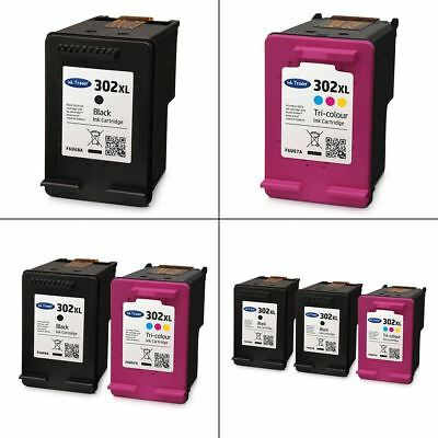 HP 302XL Black & Colour Ink Cartridges - Remanufactured For use with HP Printers