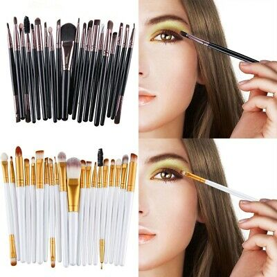20 in 1 Professional Eye Brush Makeup Brush Blending Tool Set Eye Shadow Eyebrow