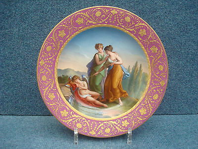 """ROYAL VIENNA PORCELAIN PLATE""""AMOR & NYMPHES"""" 1800-1849 date code (18)06"""