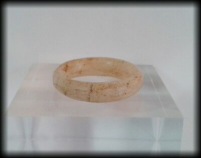 Ancient Egyptian Carved Alabaster Stone Band Ring - Fifth/Sixth Dynasty 24thC BC