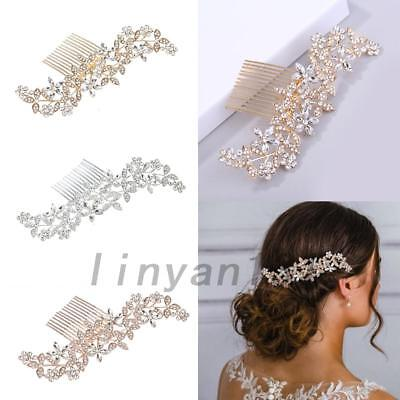 Wedding Rhinestone Hair Pins Clips Bridal Crystal Insert Comb Hair Accessories
