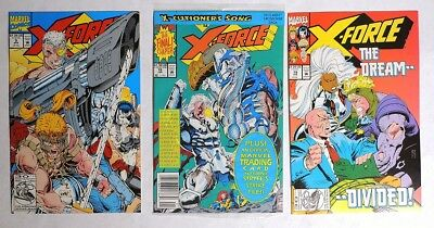 ESZ6758 X-FORCE #9 #18 #19 Marvel 7.5 VF- 1993 Polybag, Copycat Not In Disguise=