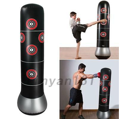 Newest Inflatable Boxing Punching Bag MMA Kick Martial Training With Air Pump AU