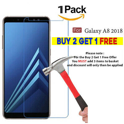 Tempered Glass Full Screen Protector Film Cover Fit For Samsung Galaxy A8 (2018)