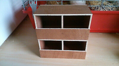 2 X Finch double nest boxes ,Bengalese,Zebra,foreign bird Free p&p