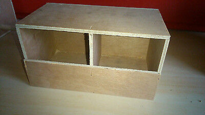 Finch double nest box ,Bengalese,Zebra,foreign bird Free p&p
