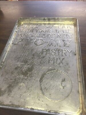 Vintage PY-O-MY Pastry Mix Free 49c Cent Cookie Sheet Baking Pan Promotional