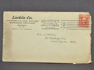 Antique Vtg 1905 Larkin Co Soap Makers Perfumers Buffalo, NY Mail Order Envelope