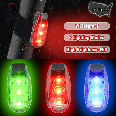 LED Light Clip on For Running Bike Rear Lamp Cycling Safety Warning Jogging B8W0