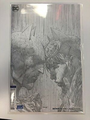 DC Batman #50 1:100 Jim Lee Pencils Variant Cover (by Tom King & Mikel Janin)