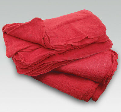 INDUSTRIAL CLEANING TOWELS RED 14x14 500 NEW SHOP RAGS