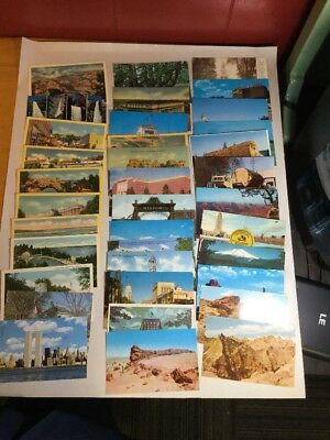 LOT 36 Colored Postcards 1930 - 1960's Landmarks Parks Towns Twin Towers