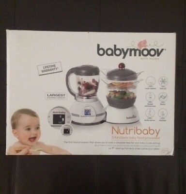 babymoov Nutribaby 5 functions baby food processor, new in box