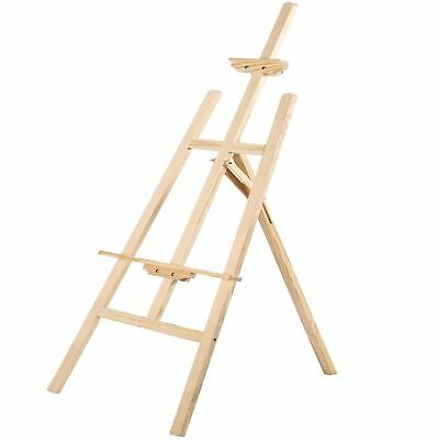 Wooden 175cm Studio Art Easel Display Drawing Painting Craft Artist Board Stand