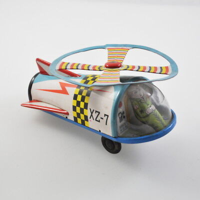 XZ-7 Space-Hubschrauber - Helikopter - Helicopter - Japan Vintage Tin Toy Blech