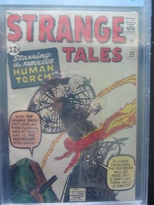 STRANGE TALES #101 CBCS 5.5.fn- KIRBY-c/a DITKO key Marvel Silver Age 1 book lot
