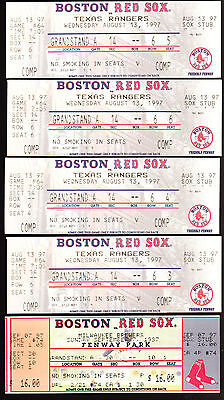 Huge Lot Boston Red Sox Full Tickets And Stubs Fenway Park+ Celtics Bruins Wwe
