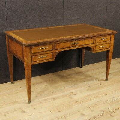 Writing desk secrétaire table furniture wood antique style Louis XVI French 900