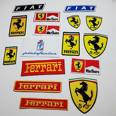 FERRARI Motorsport F1 Patch Collection - Cool Racewear, Embroidered Iron-On