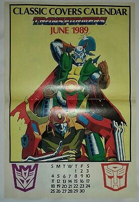 Transformers UK Comic Classic Covers Calendar June 1989