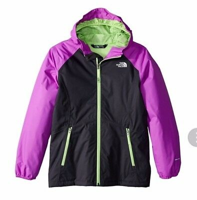 3d8bba18f231 The North Face Girls Allabout Hood Insulated Waterproof Jacket Gray M 10-12  NWT