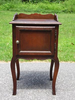 Antique Oak Smoking Stand Pipe Cigar Cabinet End Table Nightstand Commode