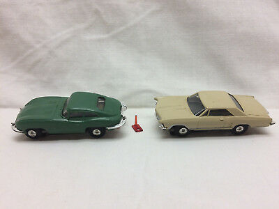 Vintage Aurora 60s Slot Car Lot Of 2 Sports Muscle Car Toys 72 98