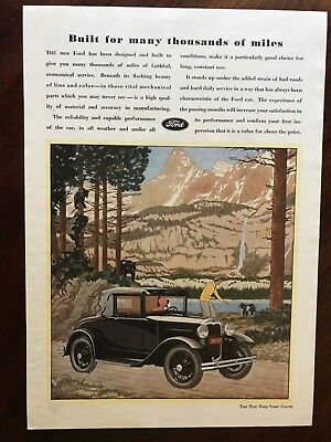 V Ford Sport Coupe Car Ad 11 1/2 x 8 1/4