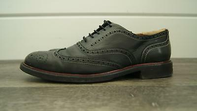 90ea68aeb PAUL SMITH Dip Dyed Mens Black Calf Leather Brogue Wingtips 8 Handmade ITALY