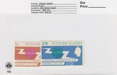 Pitcairn Is. - 1965 I.T.U. Set. Sc. #52-3. SG #49-50. Mint