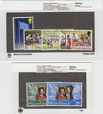 Pitcairn Is. - 1972 Commemorative Sets. Sc. #123-8. SG #120-6. Mint