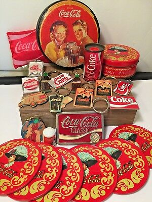 Estate Find-Huge Vintage Coca Cola Collectibles! 20 Pieces! A Must Have! No Resv