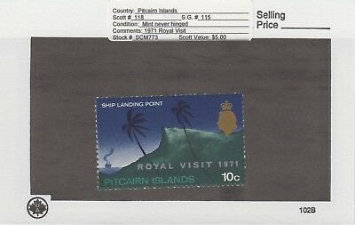 Pitcairn Is. - 1971 Royal Visit Set. Sc. #118. SG #115. Mint