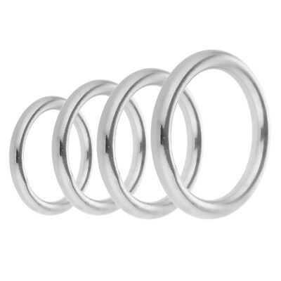 O Ring - Welded Buckle - for Webbing Leather Craft DIY - 304 Stainless Steel