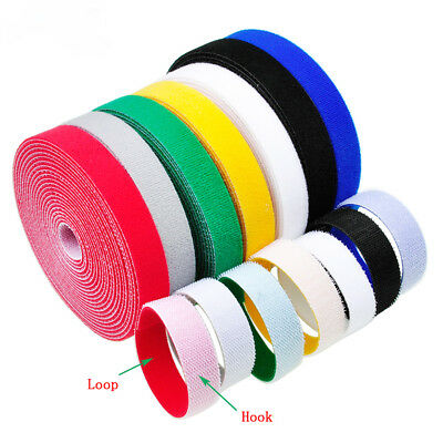 Self Adhesive HOOK and LOOP Fastener Tape Sticky Back Multi-color Fastening