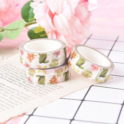 1pc 1.5cm*70cm cute cactus masking tape decorative scrapbooking adhesive tapeSC
