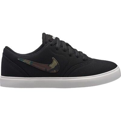Nike SB Check Canvas GS Shoes Boys in Black Olive Pro Green