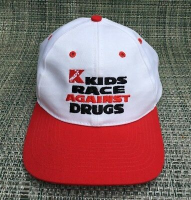 a7fe08895098d VINTAGE KMART KIDS Race Against Drugs Trucker Cap Hat Snapback ...