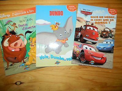 Lot Of 3 Disney Learn To Read Books Cendrillon Les Amis De
