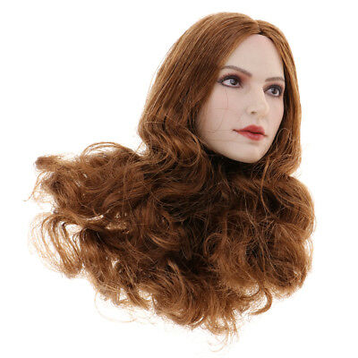 1/6 Female Head Sculpt Model Long Hair 12 Inch Phicen Action Figure Doll