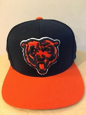 MENS CHICAGO BEARS NFL HAT SNAPBACK MItchell   Ness Raised Stitched Wool  Vtg EUC 1aa6dc2bd